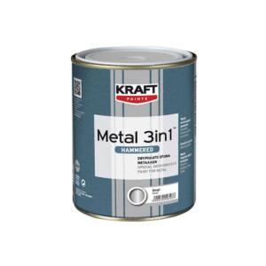 Βερνικόχρωμα METAL 3in1 Kraft σφυρίλατο