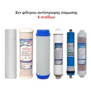 Σετ φίλτρων όσμωσης με μεμβράνη και ιχνοστοιχεία