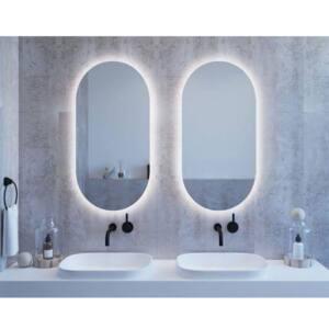 Καθρέπτης ημι-οβάλ με κρυφό φωτισμό led