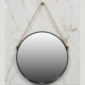 Καθρέπτης χειροποίητος λείος Φ80 με σχοινί